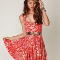 Free People Animal Godet Tank Dress at Free People Clothing Boutique
