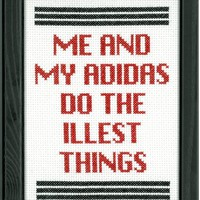 RUN DMC - My Adidas Cross Stitch