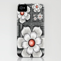 Fractal 80 Geometric Bloom 3 iPhone Case by Louise Wagstaff | Society6