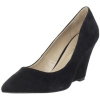 Pour La Victoire Women`s Mai Wedge Pump, Black Suede, 6.5 M US