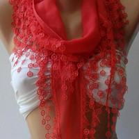 pomegranate flower - Cotton/ Traditional Turkish fabric -Anatolian Shawl-