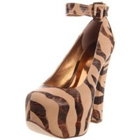 Luichiny Women`s Eye Doll Platform Pump,Nude Giraffe,11 M US