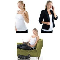 The Most Versatile Nursing Tank Top - Double Cream Nursing Tank with Built in Hands-free Pumping Support (Large, White)
