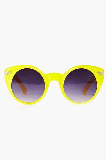Neon Circle Shades - Yellow