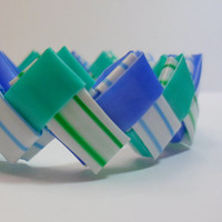 Bold Chevron Zigzag Blueberry Beat Bangle - Ziggibandz