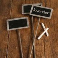 Chalkboard Garden Stake (Set of 3)