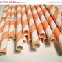 SALE 20 Orange Striped Straws Drink Flags Party Favor Decoration Retro Soda Orange and Cream