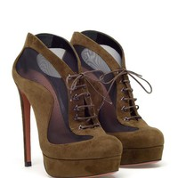 Browns fashion & designer clothes & clothing | AZZEDINE ALAÏA | Suede and mesh shoe boots