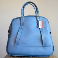 Vintage Blue American Tourister Bag