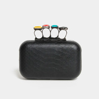 Jeweled Knuckle Clutch