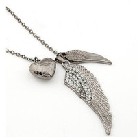 Silver Wings  of Love Necklace