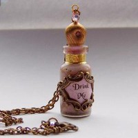 Alice in Wonderland Pink &#x27;Drink Me&#x27; Bottle Pendant