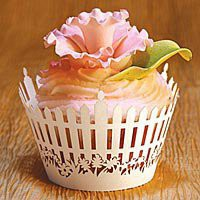 Picket Fence Cupcake Wrappers | Exquisitely detailed!  Kitchen Krafts
