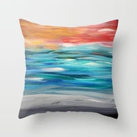 Seascape #5 Throw Pillow by Jenartanddesign | Society6