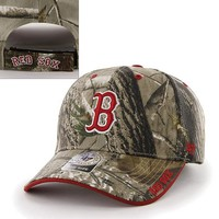 '47 Brand Boston Red Sox Frost Realtree Camouflage Adjustable Cap - Adult