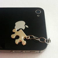 Hand-Assembled Custom Earphone Jack Plug Charms- Puzzle Piece