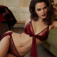 Fleur of England Red Silk Bra, Frou Frou Lounge