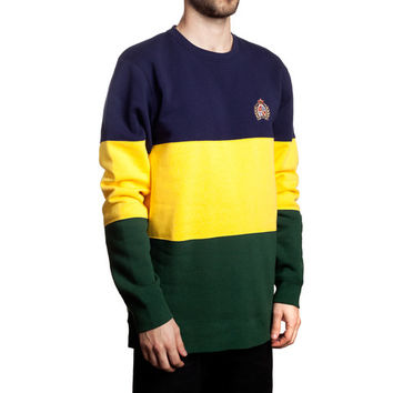 HUF - CRESTED BLOCK CREW FALL14 // NAVY / YELLOW / GREEN