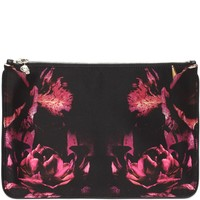 Night Flowers Print Skull Charm Pouch Alexander McQueen | Cosmetic Case | Accessories |