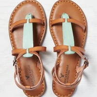 AEO COLORBLOCKED T-STRAP SANDAL