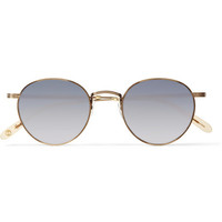 Garrett Leight California Optical - Wilson Round-Frame Stainless-Steel Mirrored Sunglasses | MR PORTER