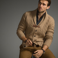 CABLE KNIT CARDIGAN LIMITED EDITION - The Equestrian - Sweaters & Cardigans - MEN - United States of America / Estados Unidos de América