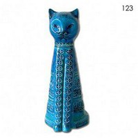 Rimini Blue Tall Cat (123) By Bitossi Of Italy - Bitossi - Home Furnishings - Unica Home