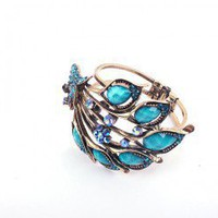 Peacock Fashion Statement Bangle | LilyFair Jewelry