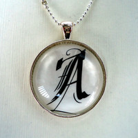 Personalized Monogram Pendants Custom Made by cellsdividing