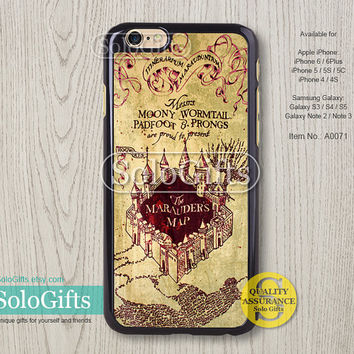 harry potter Marauders map iPhone 6 case iPhone 6 Plus case iPhone case, iPhone 5 case, iPhone 5S Case, Galaxy S5 S4 S3 Note 2 Note 3, A0071