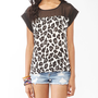 Boxy Animal Print Top