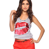 Striped Lips Tank