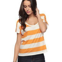 Round Neck StripedTop