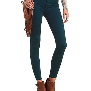 "Refuge ""Hi-Waist Super Skinny"" Colored Jeans - Forest Green"
