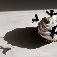 Fake Cupcake Alfred Hitchcocks The Birds by 12LegsCuriosities