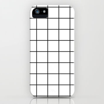 White Grid iPhone & iPod Case by Sara Eshak