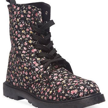 Flirty Floral Combat Boots | Wet Seal