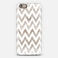 white sparkly chevron iPhone 6 case by Marianna Tankelevich   Casetify