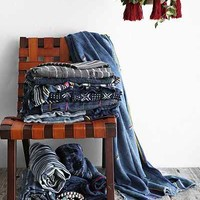 Vintage Patched-Indigo Throw Blanket - Assorted One