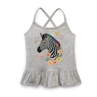 Toughskins Infant & Toddler Girl's Strappy Tank Top - Heathered & Zebra