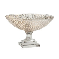 Antiqued-Glass Pedestal Bowl | Decorative Accents | Wisteria