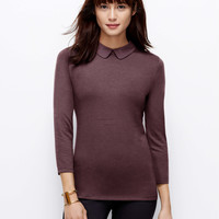 Petite Collared 3/4 Sleeve Top