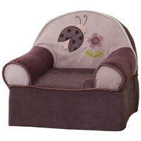 Lambs and Ivy Luv Bugs Slip Cover Chair, Plum