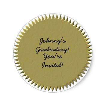 Gold Seal Graduation Stickers