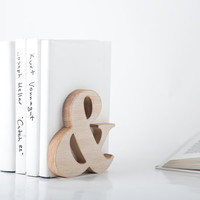 Modern stylish bookend Ampersand Wooden edition FREE SHIPPING