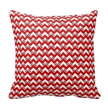 2015 Grad Chevron Pillow, Red-white