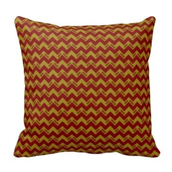 2015 Grad Chevron Pillow, Maroon-Gold
