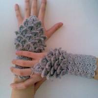 SALE SALE Crocodile Stitch Gray by myknittingworld on Etsy