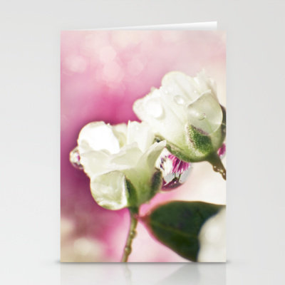 BABY'S BREATH - little white wedding roses Stationery Cards by ♕ VIAINA | Society6