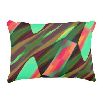 Pink and Green Colorful Waves Chevron Design